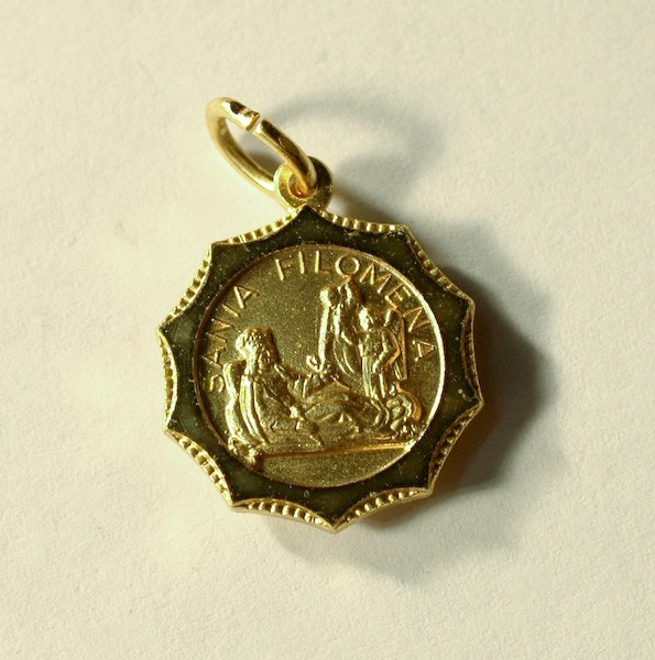 St. Philomena Relic Traditional Medal (SOLD OUT)