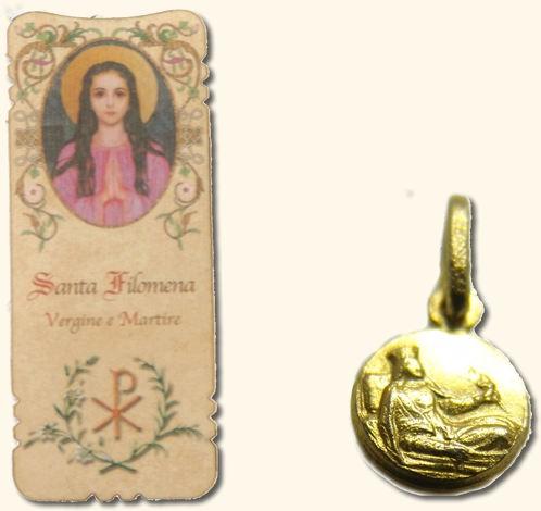 St. Philomena medal and bookmark set