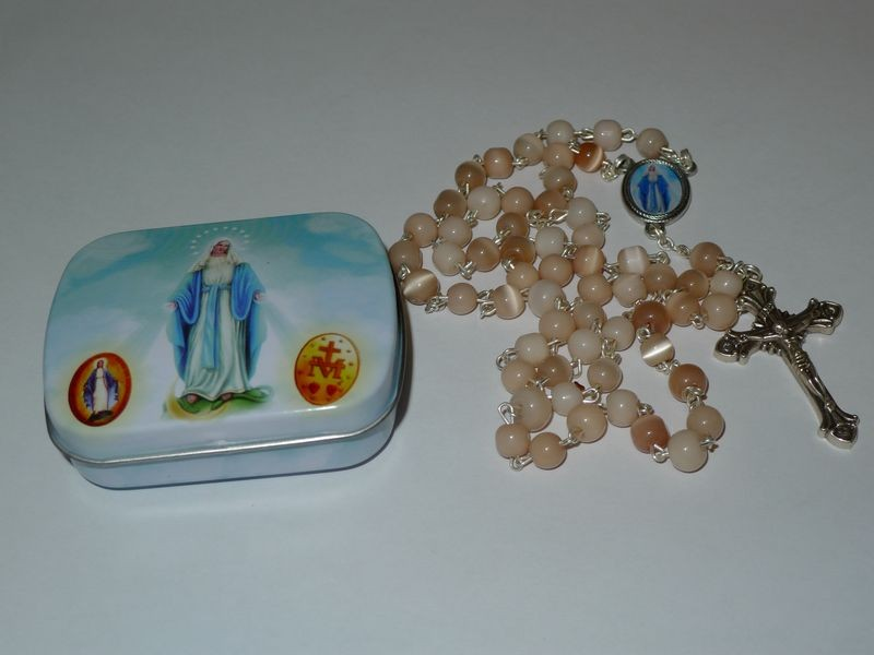 Our Lady of Lourdes Rosary Beads Ivory