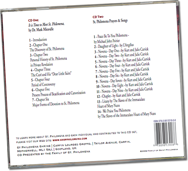 2CD Set St. Philomena