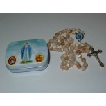 Our Lady of Lourdes Rosary Beads Ivory 2