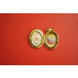 St. Philomena Relic Locket Oval Shaped Set