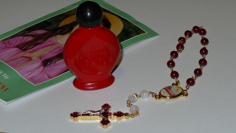 St. Philomena Blessed Oil and Chaplet