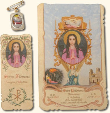 St. Philomena Special Intention Prayer Card Set (SOLD OUT)