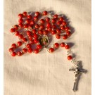 Rosary Beads St. Philomena Red