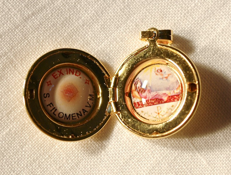 St. Philomena Relic Round Locket (SOLD OUT)