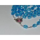 Rosary Beads St. Philomena Blue