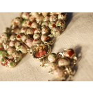 Rosary Beads St. Philomena White Mix